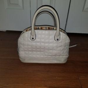 Tignanello Cream Quilted Shoulder Bag